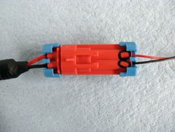 Assembled LED connector