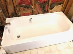 Installed tub