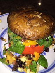 Grilled Portobello Veggie Burger
