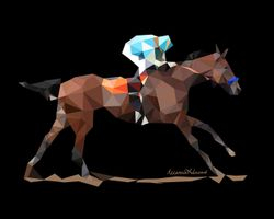 """American Pharoah"" - Low Poly Art"