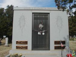 4 crypt family mausoleum with bronze name plaques