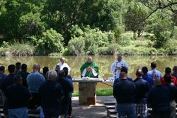 HOLY MASS ON THE RIVER