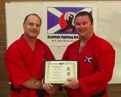 Persentation of Membership Certificate to Shihan Robert Ramage and Central Kempo Ju-Jitsu  (Falkirk)