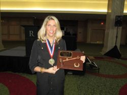 Outgoing President - Leslie Sharp