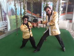 Mini me Elvis duet ceremony