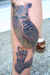 Brian's owl. (Your finally on-line)