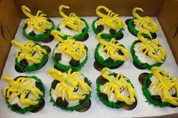 fondant scorpian soccer ball cupcakes $10 each
