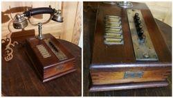 Antikvarinis, apie 1920 m. telefonas Telephonie privee. Kaina 172