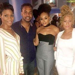 Dedra Allen, DJ Fadelf, Demetria McKinney and Brave Williams attends 'Bad Dad Rehab' Atlanta screening at Midtown Art Cinema Theatre