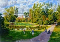 Golfing at Rusper