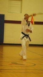 Quan Gordon doing a sword form
