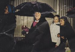 Kerry in the very wet parade