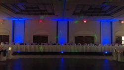 BLUE UP LIGHTING AT THE WINDHAM