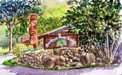 Buckeye Tree Lodge Sign, Three Rivers