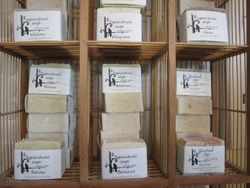 Locally hand crafted soaps...  lovely!