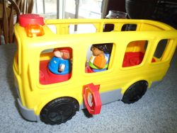 Fisher Price Little People Sit With Me School Bus with Lights, Sounds - $6