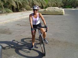 Lieke op haar fiets