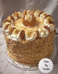 Banana Pudding Cake with Cheese Cake
