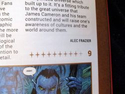Byline and Rating in My Review of Avatar: Tsu'tey?s Path in Starburst Magazine #469: Birds of Prey Collectors? Edition