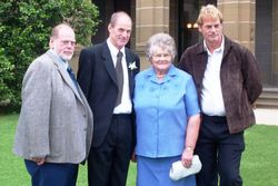 Me, Kevin, Mum & Russell at Carly & Paul's Wedding