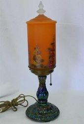 Enameled princess marigold lamp