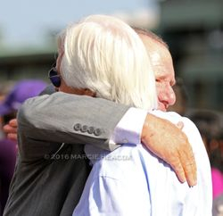 Trainers Bob Baffert and Cliff Sise