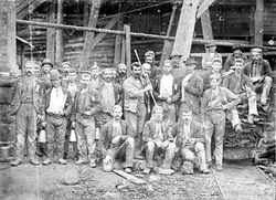 Miners at Pitfield Plains