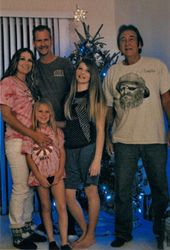 Christmas 2011-My daughter, Gentry, her children Austyn & Gabriella, Aaron & Paul on right is my husband