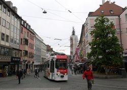 LHB tram #206 on Domstrasse into Schonbomstrasse