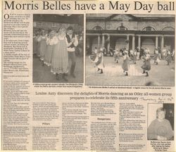 Morris Belles have a May Day ball