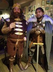 King Baratheon and Jon Snow
