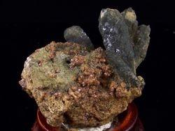 09-00463 Prazym Quartz with Anadrite Garnet