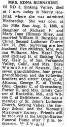 Burnshire, Edna Riley 1964