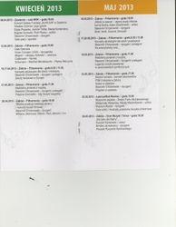 Program booklet pages for concert in Zabrze, Poland