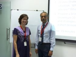 Ms Sue Warner-Bean and Colonel Shivaji Ranjan Ghosh