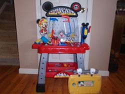 Mickey & The Roadster Racers Pit Crew Workbench - $45