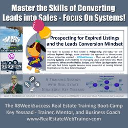 Master the Skills of Converting Leads into Sales - Focus On Systems! - Week 2 Jun 2020 - #8WeekSuccess