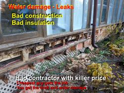 Leak repair - insulate in drafty floors/wall