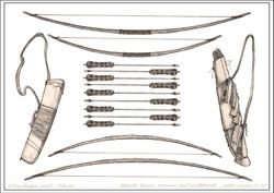 Apache Bow and Arrow set