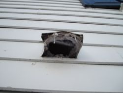Clogged vent on side wall