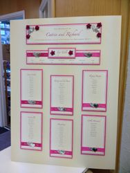 Hearts and Ribbon Table Plan Catrin