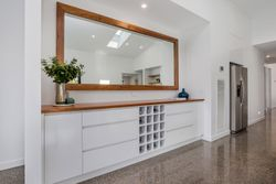 Built in buffet unit with custom mirror