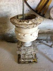 #17/090 Pair of Concrete Garden Urns SOLD