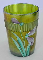 (Enameled) Iris/Columbine with Prism Band, green