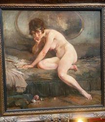 Jean Gouweloos 110cm x 110cm La boudeuse