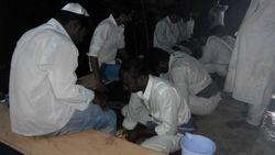 Foot washing at Passover India