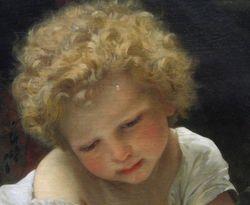 detail - Bouguereau, The Secret, New York Historical Society