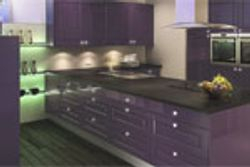 CROWN BIANCO GLOSS COLOURED KITCHEN