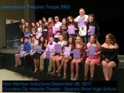 Thespian Inductions