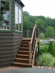 Two Story Full Length Trex Deck & Railing 9